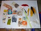 Fly Tying Material Assortment Beads Feathers Fur Chenille Floss Straw Eyes More