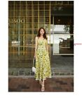 Women's fashion temperament halter floral print holiday dress KREDM7962#