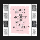 Coco Chanel Beauty Typography Designer Quote Poster - Art Decor Print - A5 A4 A3