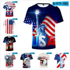 Women's/Men's American /USA flag 3D Print Short Sleeve Casual T-Shirts S-4XL TOP image