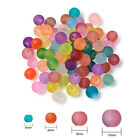 1000pcs Colorful Frosted Glass Beads Round Wholesale Loose Bead 4mm 6mm 8mm 10mm