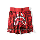 A Bathing Ape Bape Camo Shorts Shark Prints Sports Casual Loose Pants UNISEX