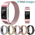 For Fitbit Charge 2 Strap Milanese Band Metal Stainless Steel Magnet Watch Wrist image