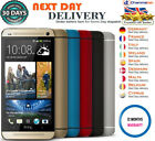 Htc One M8 Black Red Gold Silver Blue 16 32gb Android Phone Unlocked Grade A++