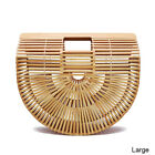 Bamboo Purse Tote Clutch Handbag Beach Handmade Womens Summer Bag Wooden Straw