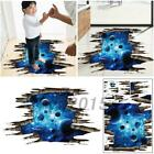 3d Home Decoration Blue Galaxy Milky Way Wall Floor Decals Removable Sticker Hot