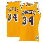 Los Angeles Lakers Shaquille O'Neal Mitchell Ness Gold 1996-97 Swingman Jersey on eBay