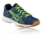 Asics Boys Girls Gel-Flare 5 GS Junior Indoor Court Shoes Green Navy Blue Sports