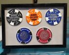 6x4 Insert - Harley Davidson Poker Chip Display - Holds 5 - No Frame/No Chips