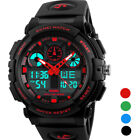 Men Army Sports Analog & Digital Watch Outdoor Military Alarm Waterproof LED US image