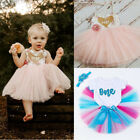 1st First Birthday Outfit Girl Pink Cake Smash Outfit Baby Tutu Skirt Outfit Set