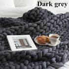 Large Soft Handmade Thick Merino Yarn Knitted Bulky Chunky Wool Throw Blanket image