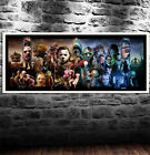 Canvas Painting Oil Painting Horror Movie Prints Hanging Wall Art Poster Decor