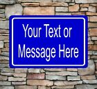"New Personalized 8"" x 12"" Aluminum Metal Sign Customized Your Custom Text CT3"