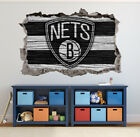 Brooklyn Nets Wall Art Decal 3D Smashed Basketball NBA Wall Decor WL182 on eBay