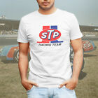 STP Racing Team NASCAR or NHRA Drag Vintage Retro Logo Mens Tee T-Shirt White image