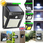 20/30/40/60 LED Solar Powered PIR Motion Sensor Wall Security Light Lamp Outdoor