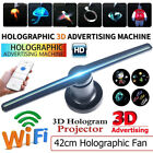 LED 3D Holographic Projector Fan Hologram Advertising Projection PC WiFi Version