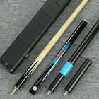Grand-  8.5mm & 9.5mm 3/4 Piece Black Ebony Handmade Snooker/Pool Cue Set@YP45