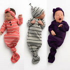 Newborn Infant Baby Sleeping Bag Blanket Swaddle Wrap Bedding Clothes Hat Outfit