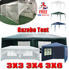 3X3/4/6M Heavy Duty Garden Gazebo Marquee Party BBQ Tent with 4-Sides Waterproof