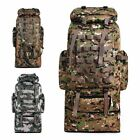 100L Military Tactical Shoulder Backpack Outdoor Waterproof Camping Hiking Bag