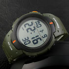 SKMEI Men Military LED Alarm Outdoor Sport  Digital Watch Large Dial Rubber Band image