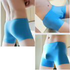 Men's Ice Silk Seamless Breathable Comfy Boxers Underwear Bulge Briefs Shorts
