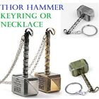 Marvel Thor Hammer Keyring Chain Necklace Pendant Avengers Norse Mythology Hero