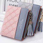 Women Solid Cute Wallet Coin Bag Case Leather Simple Bifold Small Handbag Purse image