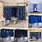 Students Dormitory Thin Bunk Bed Curtain Lightproof Dustproof Single Bed Tent image