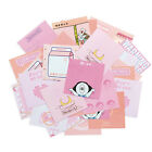 30Pcs Novelty Pink Series Sticky Notes Kawaii Memo Pad Scrapbooking Stationery
