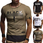 2019 New Men's Short Sleeve Fitness O-Neck Gym Muscle Bodybuilding T-shirt Tee image