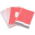 Red Polka Dot Mailing Bag Coloured Plastic Postal Postage Post Strong Seal UK