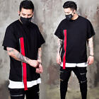 NewStylish Mens  Red webbing strap t-shirts