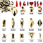 3D Nail Art Rhinestones Gold Red AB Crystals Flat Shaped Elongated Glass Stones $2.69 USD on eBay