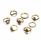 Women's Fashion Jewelry Silver Or Gold 8 Ring Set Bohemian Knuckle Ring 78-11