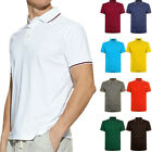 Men's Polo Shirt Dri-Fit Golf Sports Striped Cotton T Shirt Jersey Short Sleeve