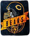 "Officially Licensed NFL Grand Stand Plush Raschel Throw Blanket, 50"" x 60"" on eBay"
