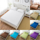 US Bed Fitted Sheet Elastic Sheets Polyester &Cotton Single Twin Full Queen King image