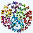 12x 3d Butterfly Wall Stickers Craft Butterflies Magnetic Decals Room Decoration