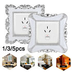 Fashion Switch Covers Square Shaped Wall Light Switch Socket Stickers Home Decor
