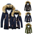Men Winter Warm Fur Hooded Jacket Casual Thicken Long Parkas Coat manteau hommes