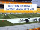 Pittsburgh Steelers vs Indianapolis Colts - 2 Tickets - Lower Level Sidelines !!