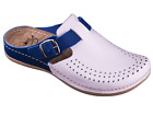 Women hand made natural leather  clogs with low  PU sole size 3.5-7 ( 210 )