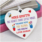 Personalised Teacher Heart Plaque Gifts - Thank You Gifts for Teacher Assistant