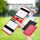 PU Golf Score Counter Keeper Card Holder Gift Sports Accessories With Pencil