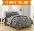 8 Piece Luxury Pintuck Style Bed in a Bag Comforter Bedding Set  image