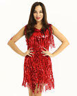Tassel Sequin Ballroom Latin Salsa Tango Dance Dress Costume Women Dancing Dress