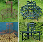 Metal Circular Tree Bench Seat Round Garden Benches 2 Designs And Cover